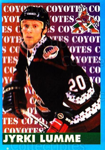 1999-00 Panini Stickers #279 Jyrki Lumme<br/>3 In Stock - $1.00 each - <a href=https://centericecollectibles.foxycart.com/cart?name=1999-00%20Panini%20Stickers%20%23279%20Jyrki%20Lumme...&quantity_max=3&price=$1.00&code=160925 class=foxycart> Buy it now! </a>