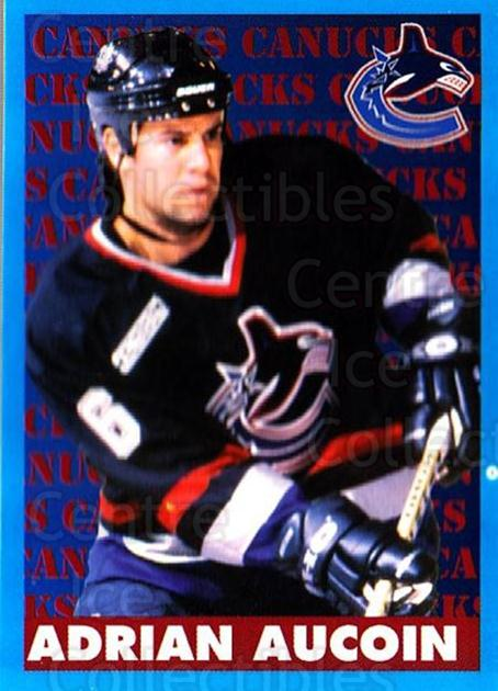 1999-00 Panini Stickers #312 Adrian Aucoin<br/>7 In Stock - $1.00 each - <a href=https://centericecollectibles.foxycart.com/cart?name=1999-00%20Panini%20Stickers%20%23312%20Adrian%20Aucoin...&quantity_max=7&price=$1.00&code=160958 class=foxycart> Buy it now! </a>