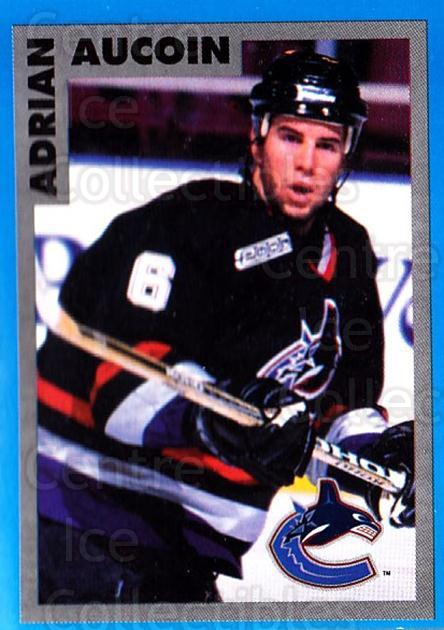 1999-00 Panini Stickers #343 Adrian Aucoin<br/>6 In Stock - $1.00 each - <a href=https://centericecollectibles.foxycart.com/cart?name=1999-00%20Panini%20Stickers%20%23343%20Adrian%20Aucoin...&quantity_max=6&price=$1.00&code=160982 class=foxycart> Buy it now! </a>