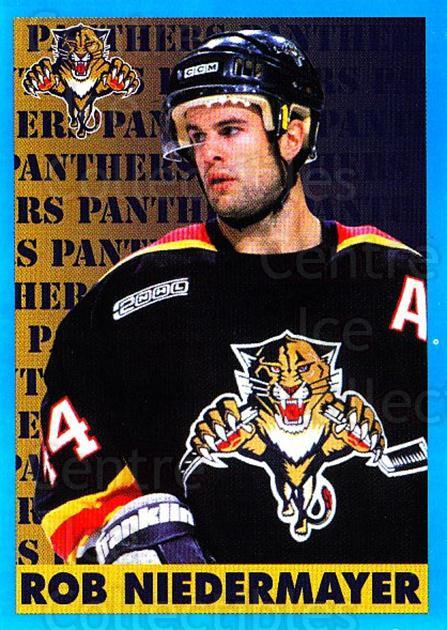1999-00 Panini Stickers #59 Rob Niedermayer<br/>3 In Stock - $1.00 each - <a href=https://centericecollectibles.foxycart.com/cart?name=1999-00%20Panini%20Stickers%20%2359%20Rob%20Niedermayer...&quantity_max=3&price=$1.00&code=161015 class=foxycart> Buy it now! </a>