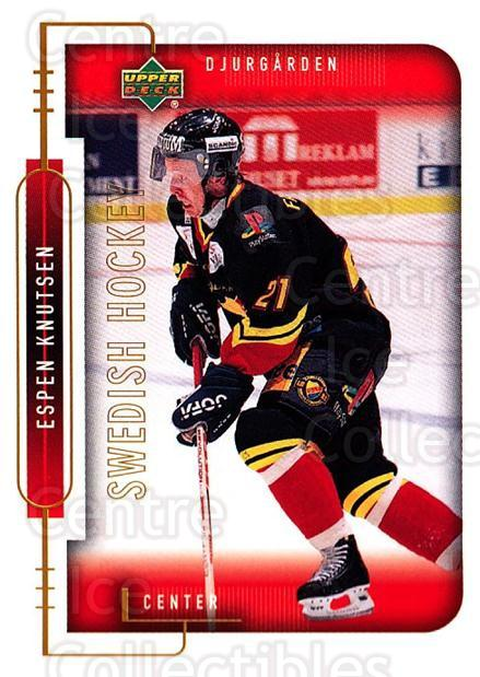 1999-00 Swedish Upper Deck #49 Espen Knutsen<br/>7 In Stock - $2.00 each - <a href=https://centericecollectibles.foxycart.com/cart?name=1999-00%20Swedish%20Upper%20Deck%20%2349%20Espen%20Knutsen...&quantity_max=7&price=$2.00&code=161100 class=foxycart> Buy it now! </a>