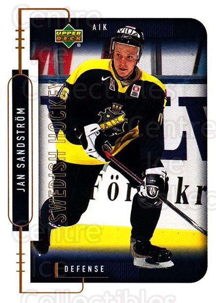 1999-00 Swedish Upper Deck #5 Jan Sandstrom<br/>9 In Stock - $2.00 each - <a href=https://centericecollectibles.foxycart.com/cart?name=1999-00%20Swedish%20Upper%20Deck%20%235%20Jan%20Sandstrom...&quantity_max=9&price=$2.00&code=161101 class=foxycart> Buy it now! </a>