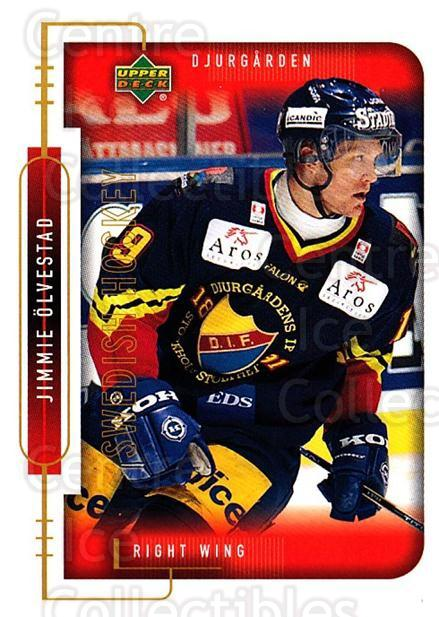 1999-00 Swedish Upper Deck #50 Jimmie Olvestad<br/>8 In Stock - $2.00 each - <a href=https://centericecollectibles.foxycart.com/cart?name=1999-00%20Swedish%20Upper%20Deck%20%2350%20Jimmie%20Olvestad...&quantity_max=8&price=$2.00&code=161102 class=foxycart> Buy it now! </a>
