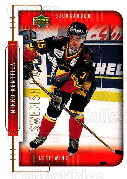 1999-00 Swedish Upper Deck #51 Mikko Konttila<br/>3 In Stock - $2.00 each - <a href=https://centericecollectibles.foxycart.com/cart?name=1999-00%20Swedish%20Upper%20Deck%20%2351%20Mikko%20Konttila...&quantity_max=3&price=$2.00&code=161103 class=foxycart> Buy it now! </a>