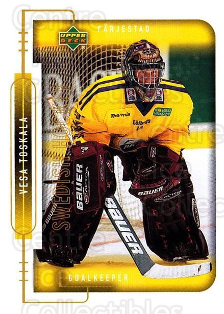 1999-00 Swedish Upper Deck #52 Vesa Toskala<br/>3 In Stock - $2.00 each - <a href=https://centericecollectibles.foxycart.com/cart?name=1999-00%20Swedish%20Upper%20Deck%20%2352%20Vesa%20Toskala...&quantity_max=3&price=$2.00&code=161104 class=foxycart> Buy it now! </a>