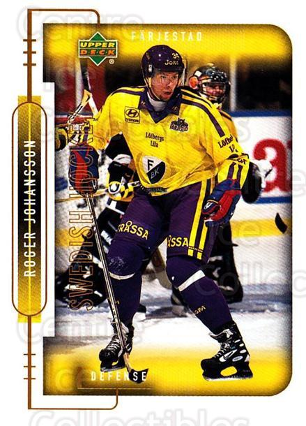 1999-00 Swedish Upper Deck #53 Roger Johansson<br/>8 In Stock - $2.00 each - <a href=https://centericecollectibles.foxycart.com/cart?name=1999-00%20Swedish%20Upper%20Deck%20%2353%20Roger%20Johansson...&quantity_max=8&price=$2.00&code=161105 class=foxycart> Buy it now! </a>