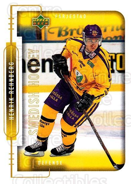 1999-00 Swedish Upper Deck #58 Henrik Rehnberg<br/>7 In Stock - $2.00 each - <a href=https://centericecollectibles.foxycart.com/cart?name=1999-00%20Swedish%20Upper%20Deck%20%2358%20Henrik%20Rehnberg...&quantity_max=7&price=$2.00&code=161110 class=foxycart> Buy it now! </a>