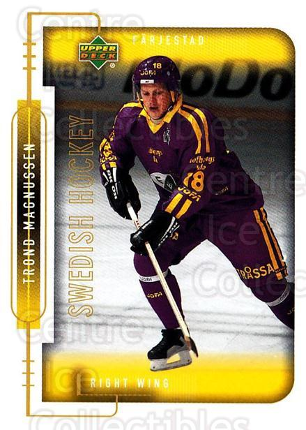 1999-00 Swedish Upper Deck #61 Trond Magnussen<br/>9 In Stock - $2.00 each - <a href=https://centericecollectibles.foxycart.com/cart?name=1999-00%20Swedish%20Upper%20Deck%20%2361%20Trond%20Magnussen...&quantity_max=9&price=$2.00&code=161114 class=foxycart> Buy it now! </a>