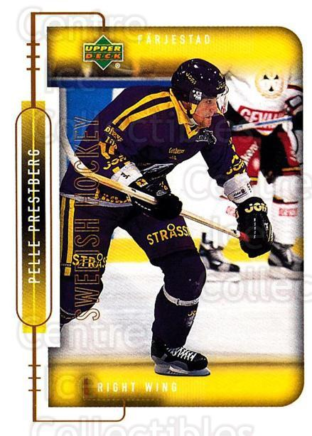 1999-00 Swedish Upper Deck #63 Pelle Prestberg<br/>6 In Stock - $2.00 each - <a href=https://centericecollectibles.foxycart.com/cart?name=1999-00%20Swedish%20Upper%20Deck%20%2363%20Pelle%20Prestberg...&quantity_max=6&price=$2.00&code=161116 class=foxycart> Buy it now! </a>