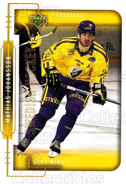 1999-00 Swedish Upper Deck #64 Mathias Johansson<br/>9 In Stock - $2.00 each - <a href=https://centericecollectibles.foxycart.com/cart?name=1999-00%20Swedish%20Upper%20Deck%20%2364%20Mathias%20Johanss...&quantity_max=9&price=$2.00&code=161117 class=foxycart> Buy it now! </a>