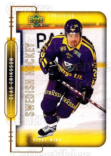 1999-00 Swedish Upper Deck #66 Clas Eriksson<br/>8 In Stock - $2.00 each - <a href=https://centericecollectibles.foxycart.com/cart?name=1999-00%20Swedish%20Upper%20Deck%20%2366%20Clas%20Eriksson...&quantity_max=8&price=$2.00&code=161119 class=foxycart> Buy it now! </a>