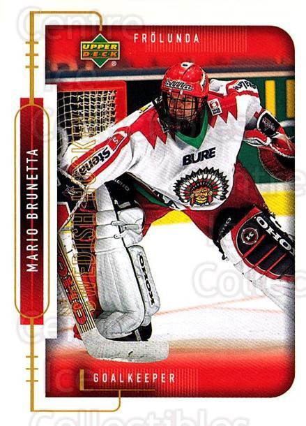 1999-00 Swedish Upper Deck #69 Mario Brunetta<br/>3 In Stock - $2.00 each - <a href=https://centericecollectibles.foxycart.com/cart?name=1999-00%20Swedish%20Upper%20Deck%20%2369%20Mario%20Brunetta...&quantity_max=3&price=$2.00&code=161122 class=foxycart> Buy it now! </a>