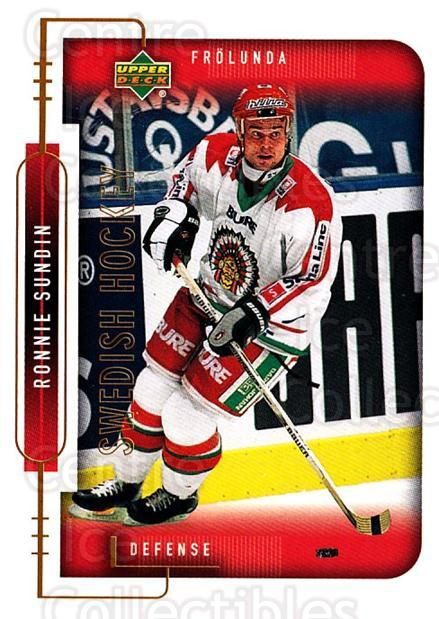 1999-00 Swedish Upper Deck #72 Ronnie Sundin<br/>5 In Stock - $2.00 each - <a href=https://centericecollectibles.foxycart.com/cart?name=1999-00%20Swedish%20Upper%20Deck%20%2372%20Ronnie%20Sundin...&quantity_max=5&price=$2.00&code=161126 class=foxycart> Buy it now! </a>