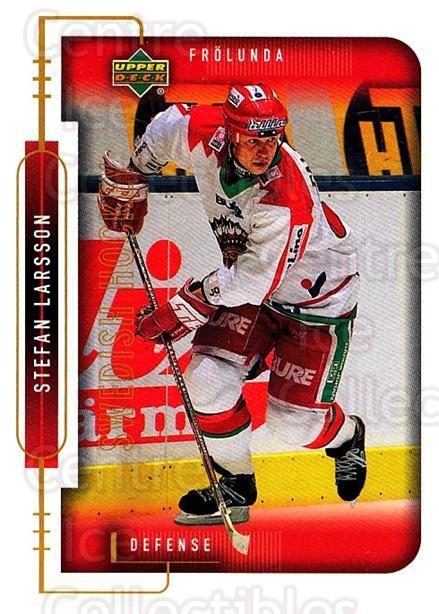 1999-00 Swedish Upper Deck #73 Stefan Larsson<br/>8 In Stock - $2.00 each - <a href=https://centericecollectibles.foxycart.com/cart?name=1999-00%20Swedish%20Upper%20Deck%20%2373%20Stefan%20Larsson...&quantity_max=8&price=$2.00&code=161127 class=foxycart> Buy it now! </a>