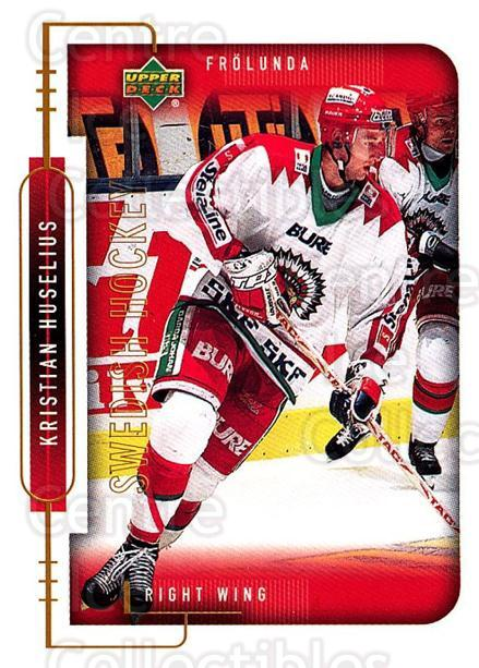 1999-00 Swedish Upper Deck #77 Kristian Huselius<br/>8 In Stock - $2.00 each - <a href=https://centericecollectibles.foxycart.com/cart?name=1999-00%20Swedish%20Upper%20Deck%20%2377%20Kristian%20Huseli...&quantity_max=8&price=$2.00&code=161130 class=foxycart> Buy it now! </a>