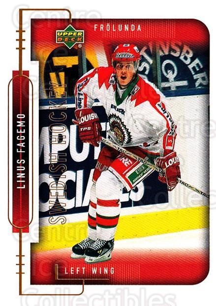 1999-00 Swedish Upper Deck #80 Linus Fagemo<br/>5 In Stock - $2.00 each - <a href=https://centericecollectibles.foxycart.com/cart?name=1999-00%20Swedish%20Upper%20Deck%20%2380%20Linus%20Fagemo...&quantity_max=5&price=$2.00&code=161134 class=foxycart> Buy it now! </a>