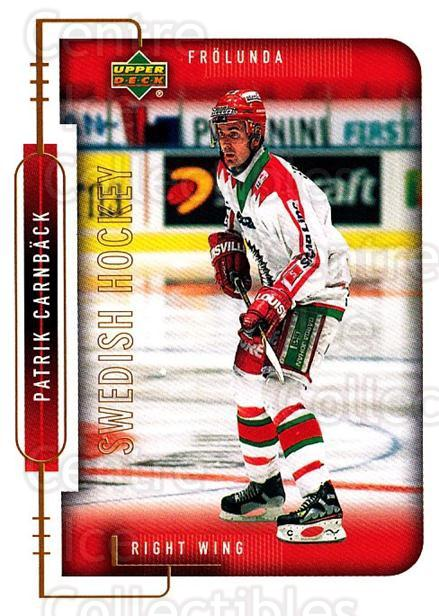 1999-00 Swedish Upper Deck #81 Patrik Carnback<br/>9 In Stock - $2.00 each - <a href=https://centericecollectibles.foxycart.com/cart?name=1999-00%20Swedish%20Upper%20Deck%20%2381%20Patrik%20Carnback...&quantity_max=9&price=$2.00&code=161135 class=foxycart> Buy it now! </a>
