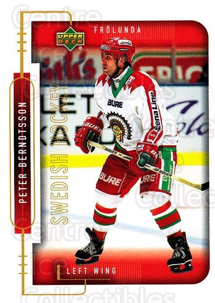 1999-00 Swedish Upper Deck #82 Peter Berndtsson<br/>8 In Stock - $2.00 each - <a href=https://centericecollectibles.foxycart.com/cart?name=1999-00%20Swedish%20Upper%20Deck%20%2382%20Peter%20Berndtsso...&quantity_max=8&price=$2.00&code=161136 class=foxycart> Buy it now! </a>