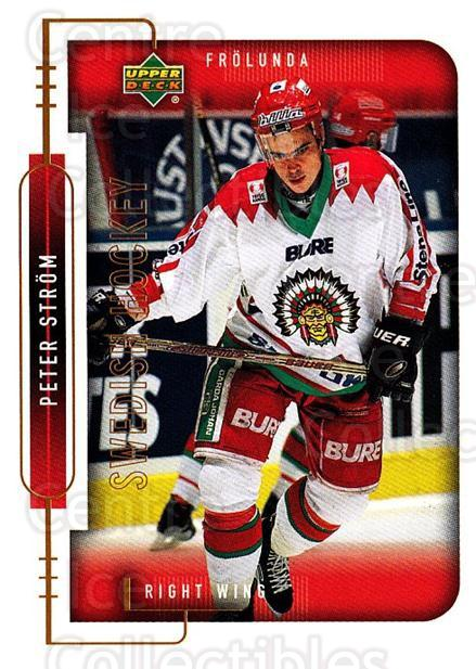 1999-00 Swedish Upper Deck #83 Peter Strom<br/>8 In Stock - $2.00 each - <a href=https://centericecollectibles.foxycart.com/cart?name=1999-00%20Swedish%20Upper%20Deck%20%2383%20Peter%20Strom...&quantity_max=8&price=$2.00&code=161137 class=foxycart> Buy it now! </a>
