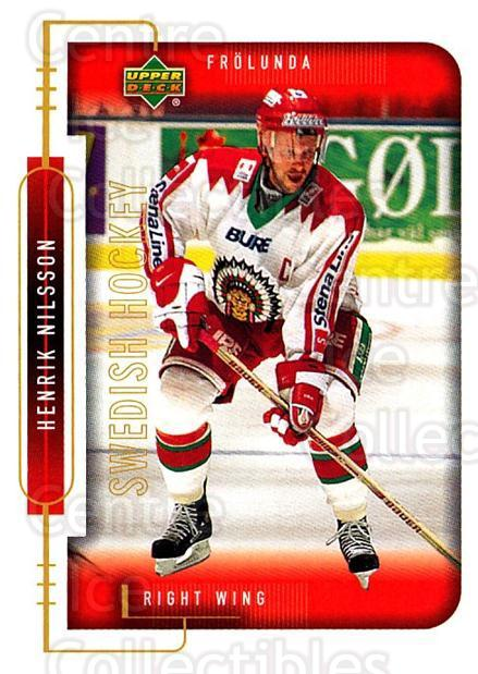 1999-00 Swedish Upper Deck #84 Henrik Nilsson<br/>6 In Stock - $2.00 each - <a href=https://centericecollectibles.foxycart.com/cart?name=1999-00%20Swedish%20Upper%20Deck%20%2384%20Henrik%20Nilsson...&quantity_max=6&price=$2.00&code=161138 class=foxycart> Buy it now! </a>