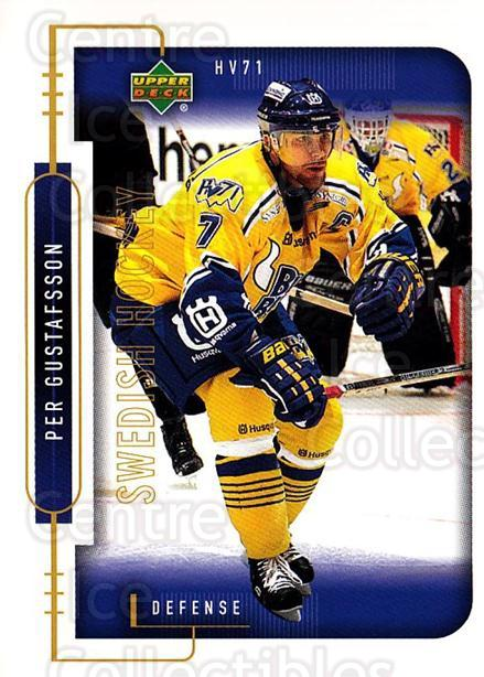 1999-00 Swedish Upper Deck #89 Per Gustafsson<br/>8 In Stock - $2.00 each - <a href=https://centericecollectibles.foxycart.com/cart?name=1999-00%20Swedish%20Upper%20Deck%20%2389%20Per%20Gustafsson...&quantity_max=8&price=$2.00&code=161142 class=foxycart> Buy it now! </a>