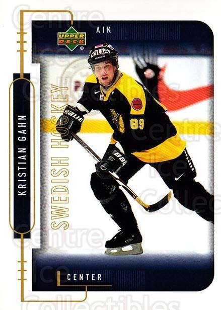 1999-00 Swedish Upper Deck #9 Kristian Gahn<br/>4 In Stock - $2.00 each - <a href=https://centericecollectibles.foxycart.com/cart?name=1999-00%20Swedish%20Upper%20Deck%20%239%20Kristian%20Gahn...&quantity_max=4&price=$2.00&code=161143 class=foxycart> Buy it now! </a>