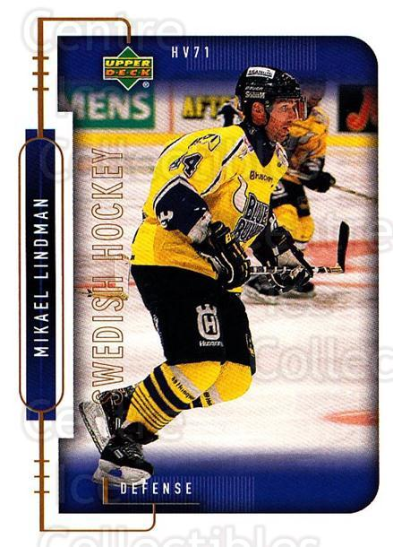 1999-00 Swedish Upper Deck #91 Mikael Lindman<br/>7 In Stock - $2.00 each - <a href=https://centericecollectibles.foxycart.com/cart?name=1999-00%20Swedish%20Upper%20Deck%20%2391%20Mikael%20Lindman...&quantity_max=7&price=$2.00&code=161145 class=foxycart> Buy it now! </a>
