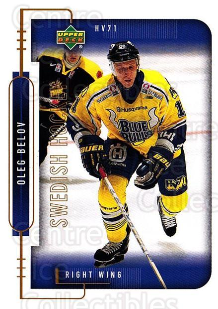 1999-00 Swedish Upper Deck #92 Oleg Belov<br/>9 In Stock - $2.00 each - <a href=https://centericecollectibles.foxycart.com/cart?name=1999-00%20Swedish%20Upper%20Deck%20%2392%20Oleg%20Belov...&quantity_max=9&price=$2.00&code=161146 class=foxycart> Buy it now! </a>