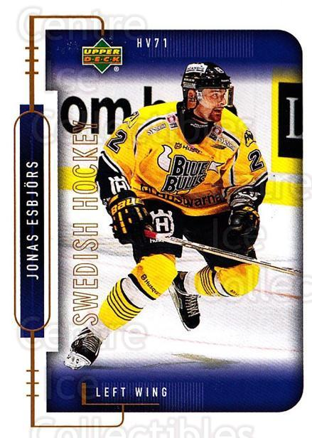 1999-00 Swedish Upper Deck #93 Jonas Esbjors<br/>9 In Stock - $2.00 each - <a href=https://centericecollectibles.foxycart.com/cart?name=1999-00%20Swedish%20Upper%20Deck%20%2393%20Jonas%20Esbjors...&quantity_max=9&price=$2.00&code=161147 class=foxycart> Buy it now! </a>