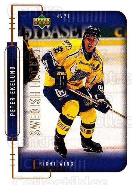 1999-00 Swedish Upper Deck #95 Peter Ekelund<br/>6 In Stock - $2.00 each - <a href=https://centericecollectibles.foxycart.com/cart?name=1999-00%20Swedish%20Upper%20Deck%20%2395%20Peter%20Ekelund...&quantity_max=6&price=$2.00&code=161149 class=foxycart> Buy it now! </a>