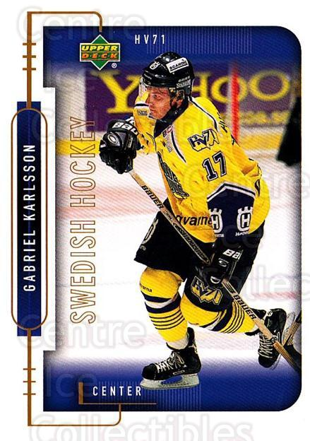 1999-00 Swedish Upper Deck #98 Gabriel Karlsson<br/>8 In Stock - $2.00 each - <a href=https://centericecollectibles.foxycart.com/cart?name=1999-00%20Swedish%20Upper%20Deck%20%2398%20Gabriel%20Karlsso...&quantity_max=8&price=$2.00&code=161152 class=foxycart> Buy it now! </a>