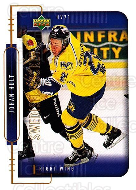 1999-00 Swedish Upper Deck #99 Johan Hult<br/>9 In Stock - $2.00 each - <a href=https://centericecollectibles.foxycart.com/cart?name=1999-00%20Swedish%20Upper%20Deck%20%2399%20Johan%20Hult...&quantity_max=9&price=$2.00&code=161153 class=foxycart> Buy it now! </a>