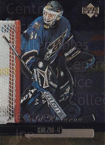 1999-00 Upper Deck Gold Reserve #301 Olaf Kolzig<br/>5 In Stock - $1.00 each - <a href=https://centericecollectibles.foxycart.com/cart?name=1999-00%20Upper%20Deck%20Gold%20Reserve%20%23301%20Olaf%20Kolzig...&quantity_max=5&price=$1.00&code=161209 class=foxycart> Buy it now! </a>