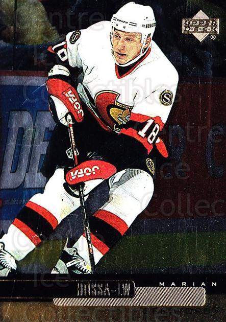 1999-00 Upper Deck Gold Reserve #92 Marian Hossa<br/>5 In Stock - $1.00 each - <a href=https://centericecollectibles.foxycart.com/cart?name=1999-00%20Upper%20Deck%20Gold%20Reserve%20%2392%20Marian%20Hossa...&quantity_max=5&price=$1.00&code=161289 class=foxycart> Buy it now! </a>