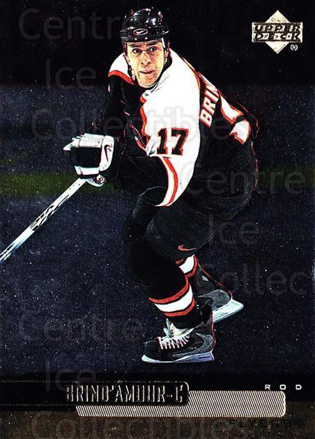 1999-00 Upper Deck Gold Reserve #96 Rod Brind'Amour<br/>5 In Stock - $1.00 each - <a href=https://centericecollectibles.foxycart.com/cart?name=1999-00%20Upper%20Deck%20Gold%20Reserve%20%2396%20Rod%20Brind'Amour...&quantity_max=5&price=$1.00&code=161291 class=foxycart> Buy it now! </a>