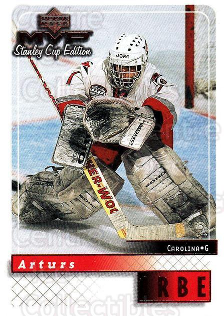 1999-00 Upper Deck MVP SC Edition #38 Arturs Irbe<br/>3 In Stock - $1.00 each - <a href=https://centericecollectibles.foxycart.com/cart?name=1999-00%20Upper%20Deck%20MVP%20SC%20Edition%20%2338%20Arturs%20Irbe...&quantity_max=3&price=$1.00&code=161354 class=foxycart> Buy it now! </a>