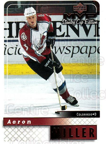 1999-00 Upper Deck MVP SC Edition #49 Aaron Miller<br/>4 In Stock - $1.00 each - <a href=https://centericecollectibles.foxycart.com/cart?name=1999-00%20Upper%20Deck%20MVP%20SC%20Edition%20%2349%20Aaron%20Miller...&quantity_max=4&price=$1.00&code=161366 class=foxycart> Buy it now! </a>