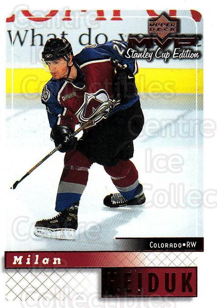 1999-00 Upper Deck MVP SC Edition #50 Milan Hejduk<br/>4 In Stock - $1.00 each - <a href=https://centericecollectibles.foxycart.com/cart?name=1999-00%20Upper%20Deck%20MVP%20SC%20Edition%20%2350%20Milan%20Hejduk...&quantity_max=4&price=$1.00&code=161368 class=foxycart> Buy it now! </a>