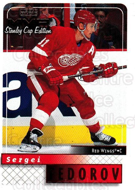 1999-00 Upper Deck MVP SC Edition #64 Sergei Fedorov<br/>4 In Stock - $1.00 each - <a href=https://centericecollectibles.foxycart.com/cart?name=1999-00%20Upper%20Deck%20MVP%20SC%20Edition%20%2364%20Sergei%20Fedorov...&quantity_max=4&price=$1.00&code=161383 class=foxycart> Buy it now! </a>