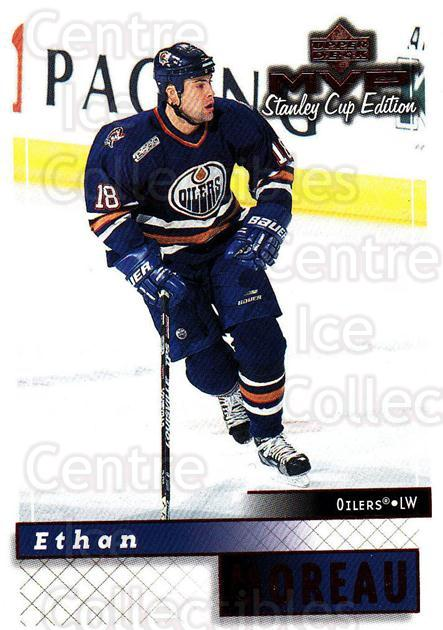 1999-00 Upper Deck MVP SC Edition #76 Ethan Moreau<br/>3 In Stock - $1.00 each - <a href=https://centericecollectibles.foxycart.com/cart?name=1999-00%20Upper%20Deck%20MVP%20SC%20Edition%20%2376%20Ethan%20Moreau...&quantity_max=3&price=$1.00&code=161395 class=foxycart> Buy it now! </a>