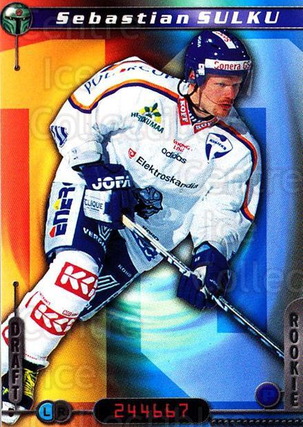 2000-01 Finnish Cardset #25 Sebastien Sulku<br/>7 In Stock - $2.00 each - <a href=https://centericecollectibles.foxycart.com/cart?name=2000-01%20Finnish%20Cardset%20%2325%20Sebastien%20Sulku...&quantity_max=7&price=$2.00&code=161682 class=foxycart> Buy it now! </a>