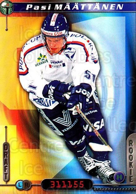 2000-01 Finnish Cardset #270 Pasi Maattanen<br/>5 In Stock - $2.00 each - <a href=https://centericecollectibles.foxycart.com/cart?name=2000-01%20Finnish%20Cardset%20%23270%20Pasi%20Maattanen...&quantity_max=5&price=$2.00&code=161704 class=foxycart> Buy it now! </a>
