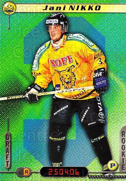 2000-01 Finnish Cardset #272 Jani Nikko<br/>6 In Stock - $2.00 each - <a href=https://centericecollectibles.foxycart.com/cart?name=2000-01%20Finnish%20Cardset%20%23272%20Jani%20Nikko...&quantity_max=6&price=$2.00&code=161706 class=foxycart> Buy it now! </a>