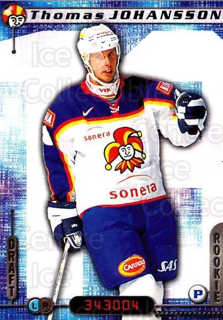 2000-01 Finnish Cardset #280 Thomas Johansson<br/>5 In Stock - $2.00 each - <a href=https://centericecollectibles.foxycart.com/cart?name=2000-01%20Finnish%20Cardset%20%23280%20Thomas%20Johansso...&price=$2.00&code=161714 class=foxycart> Buy it now! </a>