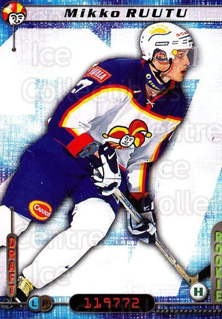 2000-01 Finnish Cardset #284 Mikko Ruutu<br/>1 In Stock - $2.00 each - <a href=https://centericecollectibles.foxycart.com/cart?name=2000-01%20Finnish%20Cardset%20%23284%20Mikko%20Ruutu...&price=$2.00&code=161718 class=foxycart> Buy it now! </a>