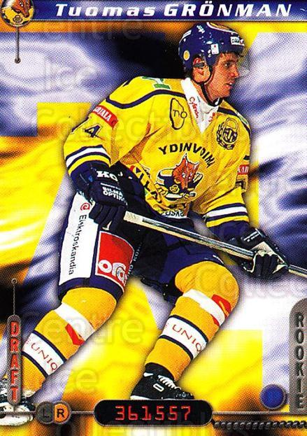 2000-01 Finnish Cardset #302 Tuomas Gronman<br/>7 In Stock - $2.00 each - <a href=https://centericecollectibles.foxycart.com/cart?name=2000-01%20Finnish%20Cardset%20%23302%20Tuomas%20Gronman...&quantity_max=7&price=$2.00&code=161739 class=foxycart> Buy it now! </a>