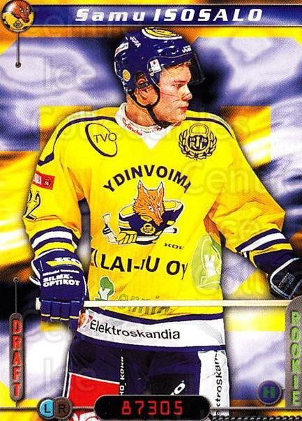 2000-01 Finnish Cardset #309 Samu Isosalo<br/>6 In Stock - $2.00 each - <a href=https://centericecollectibles.foxycart.com/cart?name=2000-01%20Finnish%20Cardset%20%23309%20Samu%20Isosalo...&quantity_max=6&price=$2.00&code=161746 class=foxycart> Buy it now! </a>