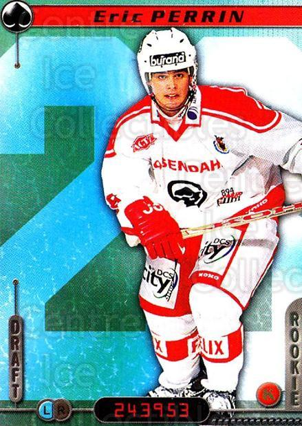 2000-01 Finnish Cardset #347 Eric Perrin<br/>2 In Stock - $2.00 each - <a href=https://centericecollectibles.foxycart.com/cart?name=2000-01%20Finnish%20Cardset%20%23347%20Eric%20Perrin...&price=$2.00&code=161787 class=foxycart> Buy it now! </a>