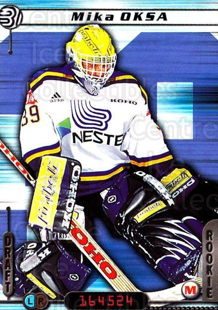 2000-01 Finnish Cardset #4 Mika Oksa<br/>3 In Stock - $2.00 each - <a href=https://centericecollectibles.foxycart.com/cart?name=2000-01%20Finnish%20Cardset%20%234%20Mika%20Oksa...&quantity_max=3&price=$2.00&code=161805 class=foxycart> Buy it now! </a>