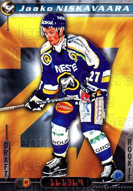 2000-01 Finnish Cardset #56 Jaako Niskavaara<br/>7 In Stock - $2.00 each - <a href=https://centericecollectibles.foxycart.com/cart?name=2000-01%20Finnish%20Cardset%20%2356%20Jaako%20Niskavaar...&price=$2.00&code=161823 class=foxycart> Buy it now! </a>